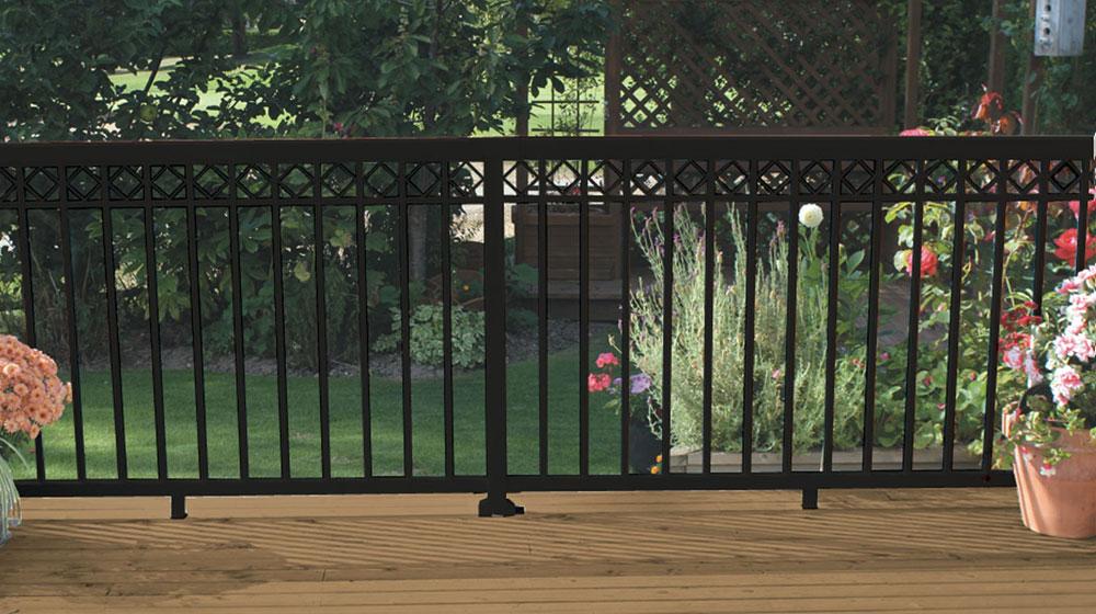 decorative aluminum railing. Standard Picket Railing with Decorative Spacers  Black Gallery Peak Aluminum